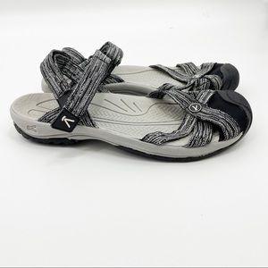 Keen Bali Sport Sandals Shoes Black White 9.5